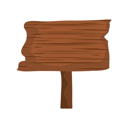 signal way wooden isolated icon vector illustration design