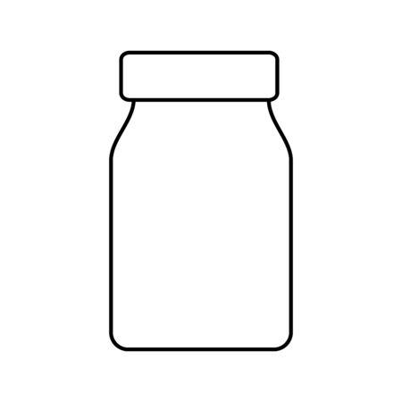 mason jar pot isolated icon vector illustration design
