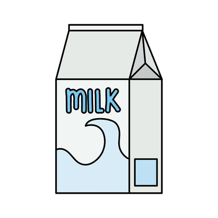 box milk beverage isolated icon vector illustration design Illustration
