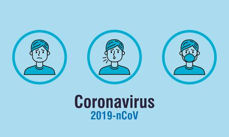 poster of covid 19 with group people vector illustration design Vectores