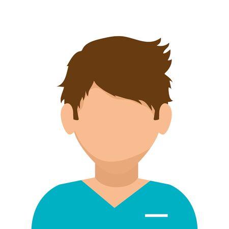 male paramedic avatar isolated icon vector illustration design