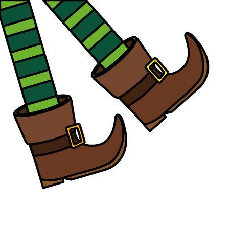 leprechaun legs with boots isolated icon illustration design icon