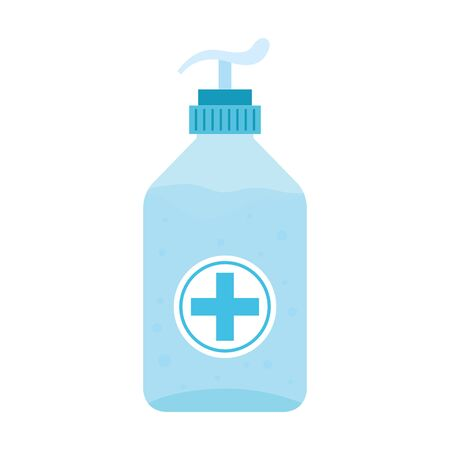 antibacterial soap bottle isolated icon vector illustration design