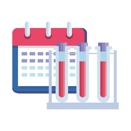 calendar reminder date with tube test vector illustration design