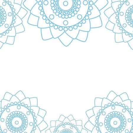 decorative set of mandalas ethnic boho style frame illustration design Çizim