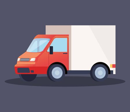 truck delivery service vehicle icon vector illustration design