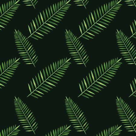 nature branches exotic plants style over dark green background vector illustration Иллюстрация