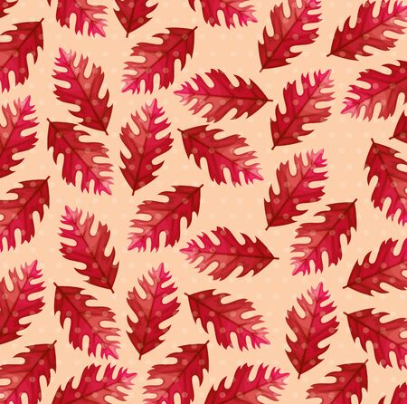background of autumn leafs naturals vector illustration design