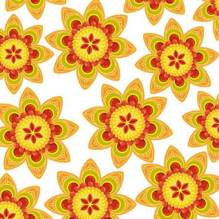 decorative set of mandalas ethnic boho style pattern vector illustration design