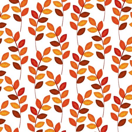 autumn branch with dry leafs nature pattern illustration design