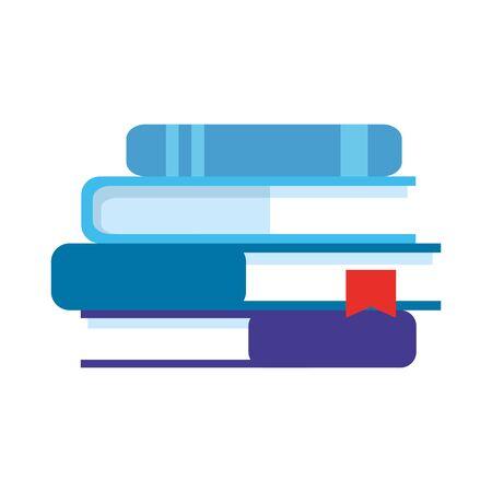 stack of textbooks isolated icon vector illustration design Illusztráció