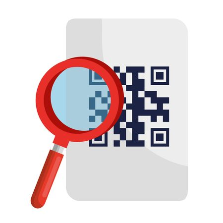lipe and qr code over paper design of technology scan information business price communication barcode digital and data theme Vector illustration