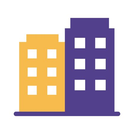 buildings constructions silhouette style vector illustration design