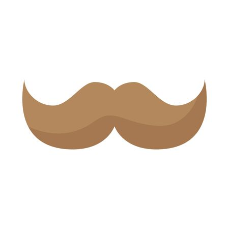 mustache male style isolated icon vector illustration design