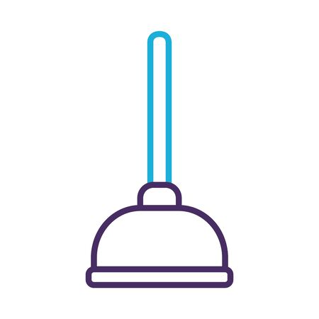 toilet bomb tool line style icon vector illustration design