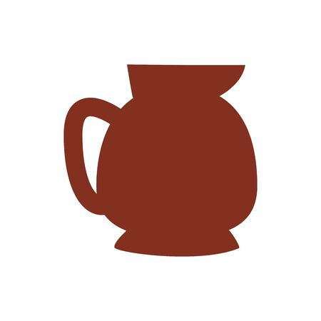 coffee in teapot drink silhouette style icon vector illustration design