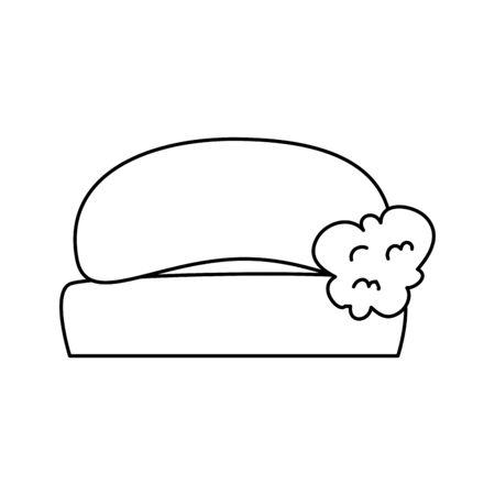 soap bar with foam isolated icon vector illustration design Vettoriali