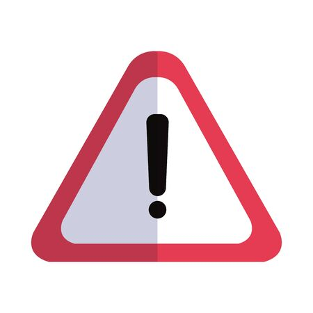 danger warning sign, exclamation mark on triangle vector illustration design