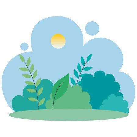 natural landscape scene isolated icon vector illustration design