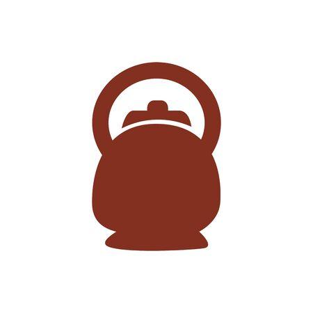 coffee in teapot drink silhouette style icon vector illustration design 版權商用圖片 - 147919208