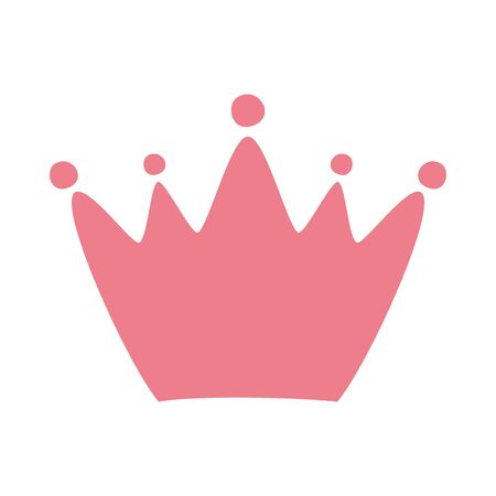pink queen crown isolated icon vector illustration design