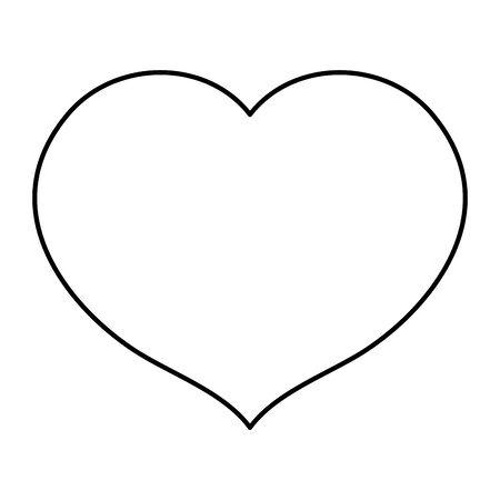 heart love romantic isolated icon vector illustration design Ilustração