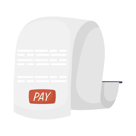 pay receipt paper isolated icon vector illustration design