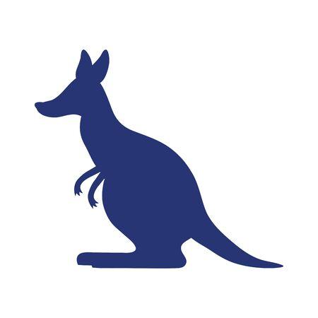 kangaroo wild animal silhouette icon vector illustration design Illustration