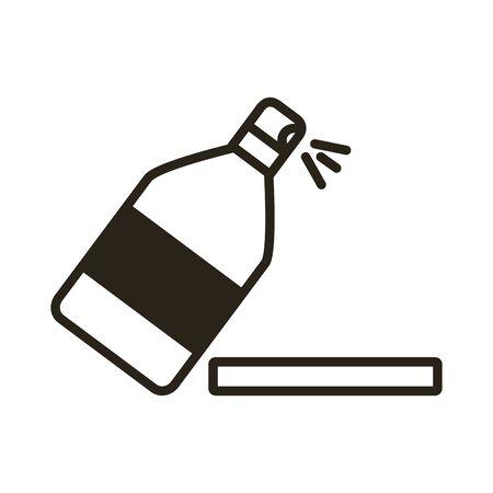 splash bottle line style icon illustration design Illustration