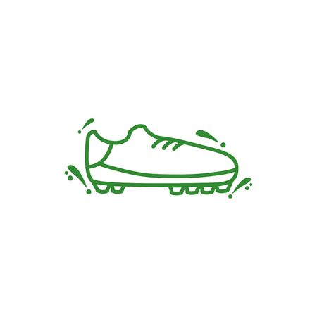 soccer tennis shoe isolated icon illustration design 向量圖像