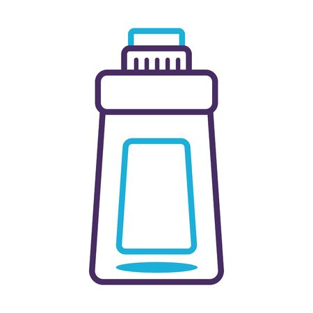 disinfectant plastic bottle product line style vector illustration design