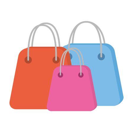 shopping bags paper commercial icons vector illustration design Ilustración de vector