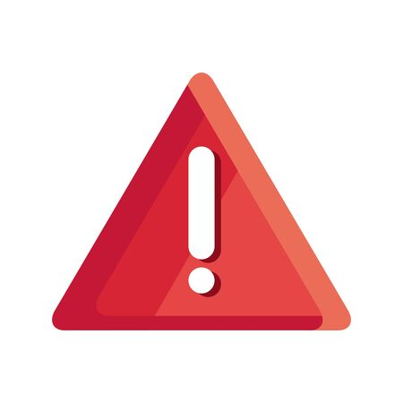 danger warning sign, exclamation mark on triangle vector illustration design Vetores
