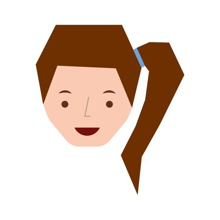 young woman avatar character vector illustration design Ilustração