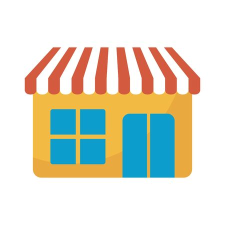 store front facade isolated icon vector illustration design Illustration