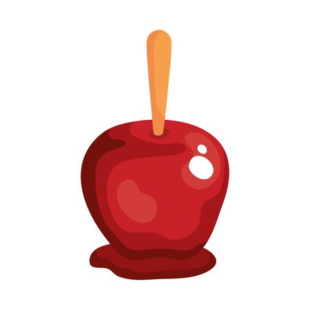 delicious candy apple on white background vector illustration design