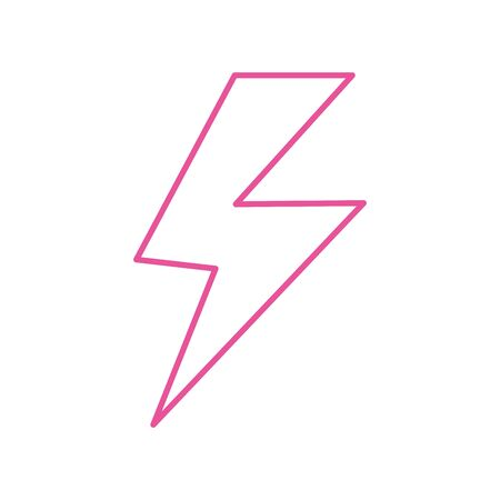 thunder ray power isolated icon vector illustration design
