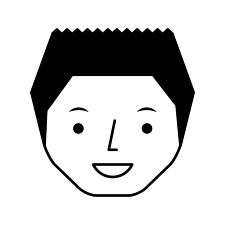 young man avatar character illustration design 向量圖像