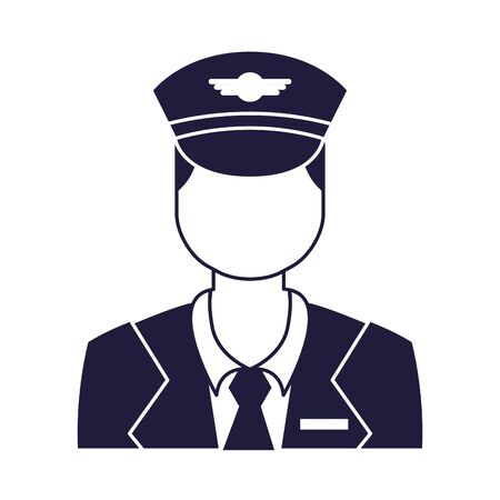 captain pilot avatar isolated icon vector illustration design