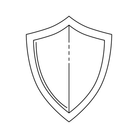 protect guard shield, line style concept vector illustration design