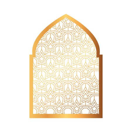 islamic arch, arabic ornamental traditional muslim vector illustration design