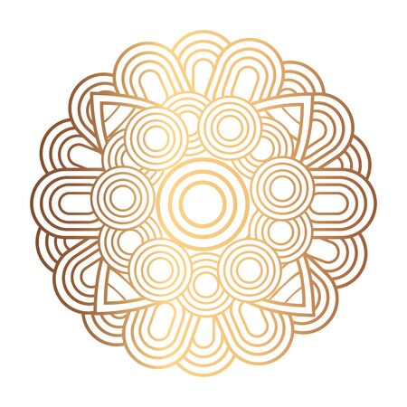 elegant ornament, round mandala golden color, classic vintage vector illustration design