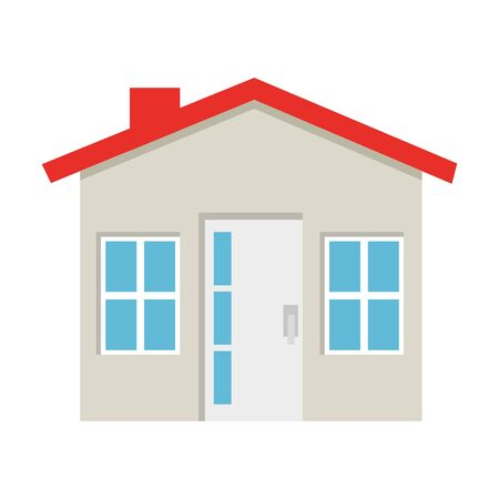 house facade construction isolated icon vector illustration design