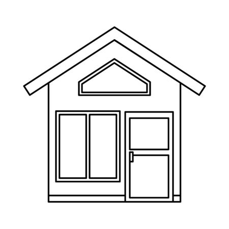 house front facade isolated icon vector illustration design