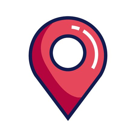 pin map place location icon, unique location marker, pointer, destination element vector illustration design