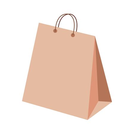bag paper shopping isolated icon vector illustration design
