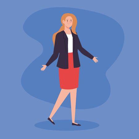 beautiful woman with elegant clothes vector illustration design Ilustracja