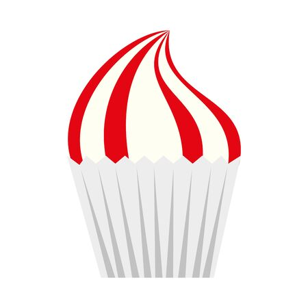 Cupcake design, Muffin dessert sweet and food theme Vector illustration Иллюстрация
