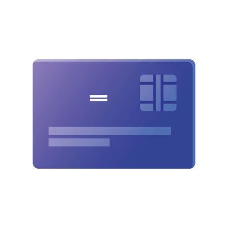 creidt card of money financial banking commerce and market theme Vector illustration Çizim