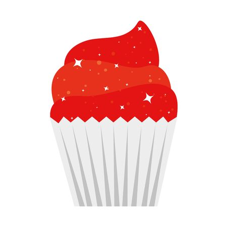 Cupcake design, Muffin dessert sweet and food theme Vector illustration